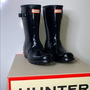 NIB HUNTER Glossy Original Short Rain Rubber Boots